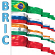 BRIC countries flags — Stock Photo