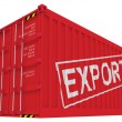 Export cargo container isolated on white — Stock Photo