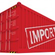 Import cargo container isolated on white — Stock Photo
