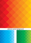 Abstract vector background colorful set — Stock Vector