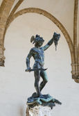 Statue of Perseus slaying Medusa in Firenze — Stock Photo