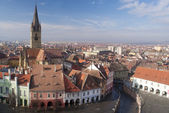 Panorama of Sibiu town — Stock Photo
