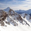 High mountain in Austrian Alps in winter — Stock Photo