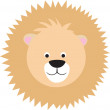 Royalty-Free Stock Vector Image: Cartoon lion face