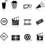 Film en bioscoop pictogrammenset — Stockvector