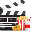 Movie and cinema icon set — Stock Vector #4091946