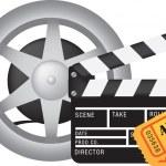 Movie and cinema icon set — Stock Vector