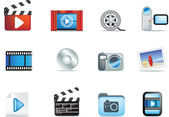 Set of movie and photo icons — Stock Vector