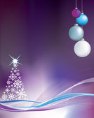 Purple christmas background illustration — Stock Vector