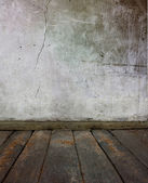 Old floor and wall — Stock Photo
