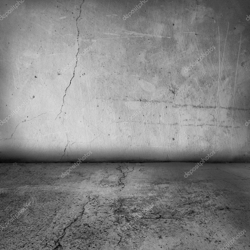 Simple textured grunge interior of a blank wall and floor — Stock Photo #4209962