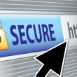 Secure internet — Stock Photo