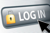 Internet log in button — Stock Photo
