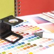 Stock Photo: Colour swatches and marker pen