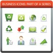 Royalty-Free Stock Vector Image: Business icon series 5 recycle and conserve
