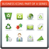 Business icon series 5 recycle and conserve — Stock Vector