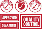 Approved, guarantee and quality control symbol — Stock Vector