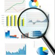 Selection of fictional graphs — Stock Photo