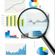 Stock Photo: Selection of fictional graphs
