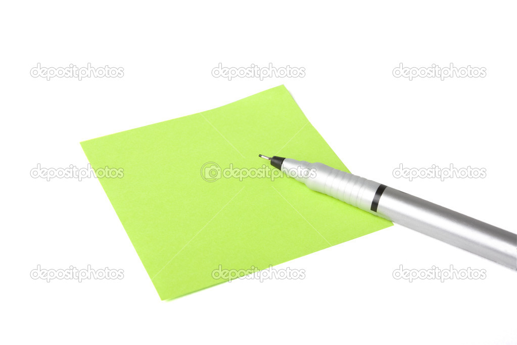 Blank note with pen about to write a message — Stock Photo #4630913