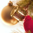 Christmas bauble decorations — Stock Photo