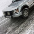 Car skidding on an icy road — Stock Photo #4673512