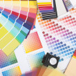 Designer coloured swatches — Stock Photo