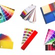 Swatches selection for different colours — Stock Photo