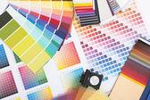 Amostras de cores designer — Fotografia Stock