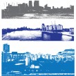 Urban style london cityscapes — Stock Vector
