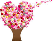 Love heart tree — Stockvector