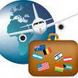 Vector de stock : Worldwide travel symbol