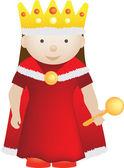 Cartoon character of a queen — Stock Vector