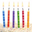 Stock Photo: Birthday candles on white
