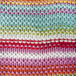 KNITTED STRIPED BACKGROUND, close up — Stock Photo
