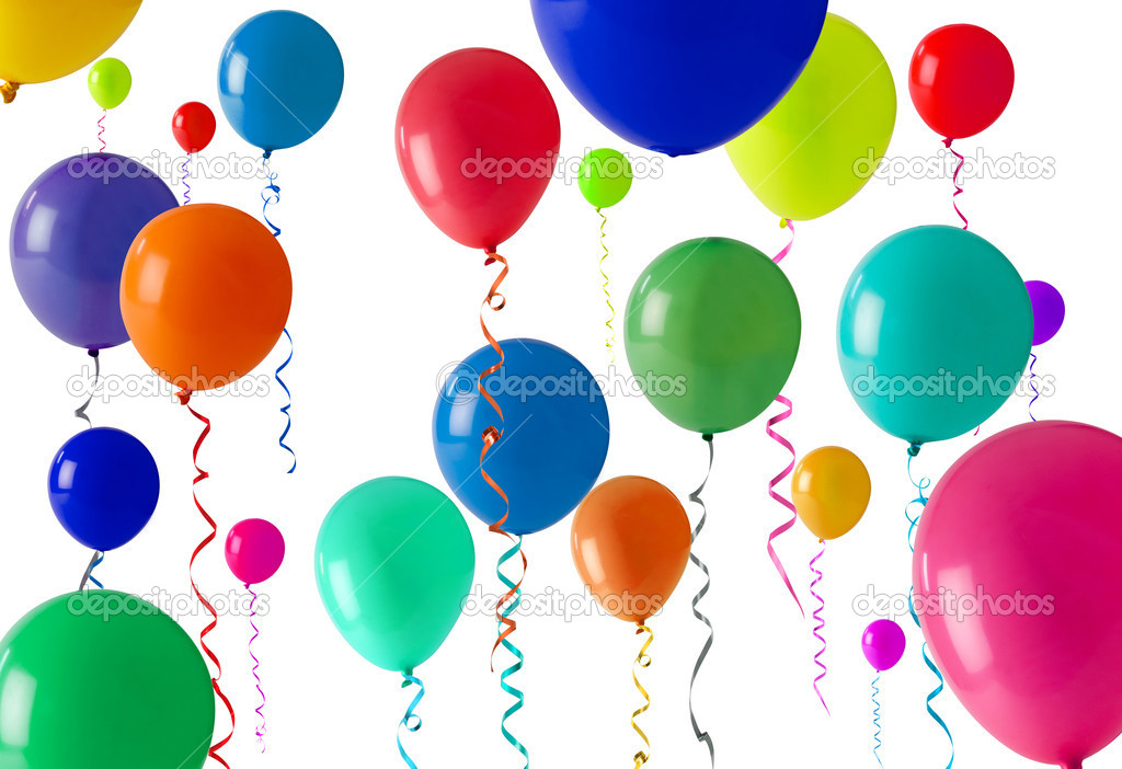 Party balloon background - Stock Image