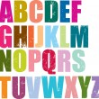 Royalty-Free Stock Vector Image: Letterpress style alphabet