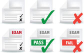 Exam paper icon — Stock Vector