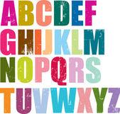 Letterpress style alphabet — Stock Vector