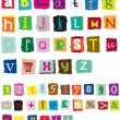 Royalty-Free Stock Vector Image: Ransom style muddled alphabet