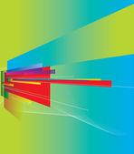 Abstrakte perspektive hintergrund — Stockvektor