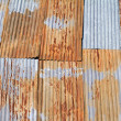 Old corrugated metal roof - Stock Photo