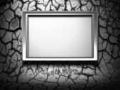 Metal frame on grunge background — Stock Photo