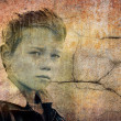 Grungy portrait of a child — Stock Photo