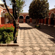 Monastery courtyard — Stock Photo