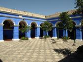 Monastery courtyard — Stock Photo