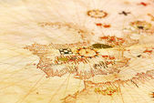Portugalská mapa. — Stock fotografie