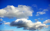 Clouds in blue sky background. — Stock Photo