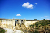 Wall of portuguese dam. — Stock Photo