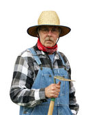 Farmer portrait isolated with path — Stock Photo